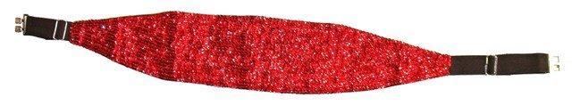 Image 0 of Sequin Cummerbund Belt RED