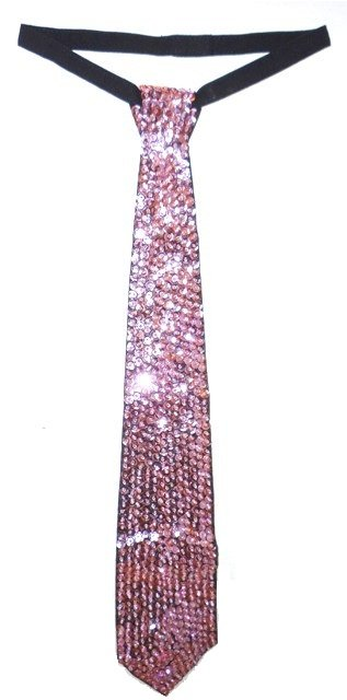 Image 0 of Sequin Neck Tie Lite Pink