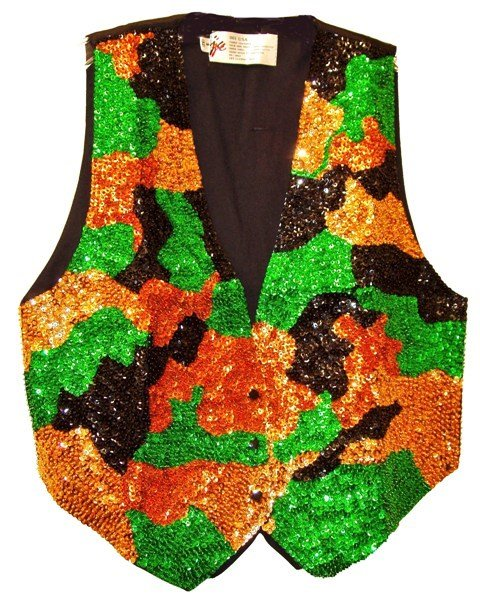 Image 0 of Sequin Vest Camouflage