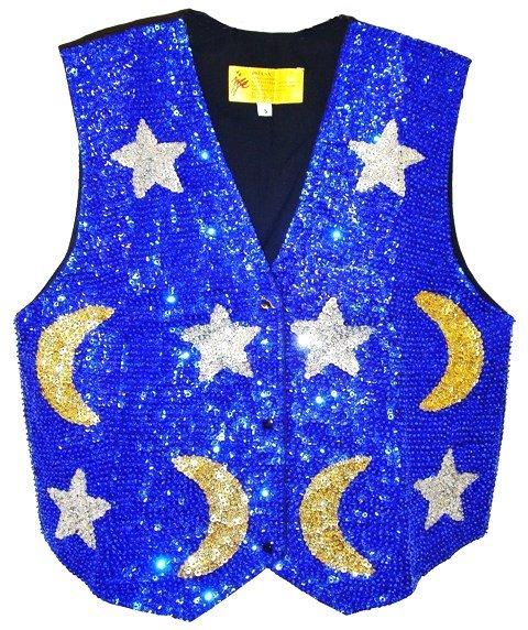 Image 0 of Sequin Vest Celestial Blue