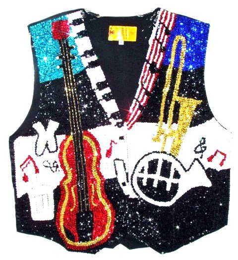 Image 0 of Sequin Vest Jazz Musical Instruments