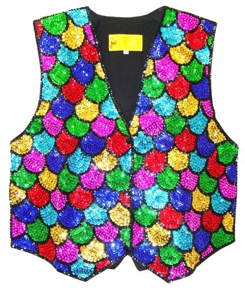 Image 0 of Sequin Vest Mosaic Shell