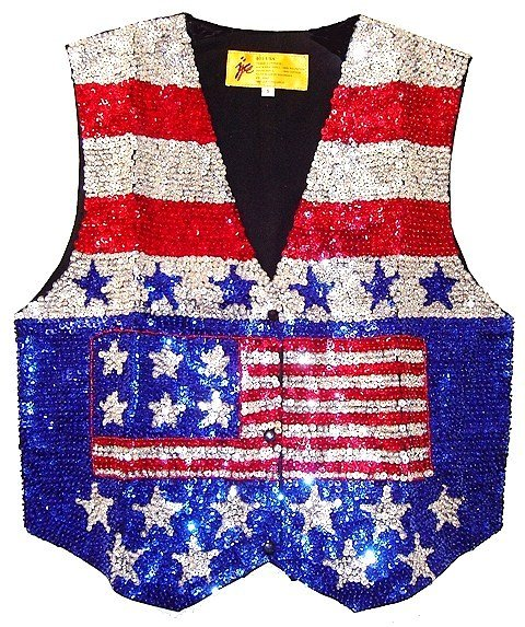 Image 0 of Sequin Vest USA # 1