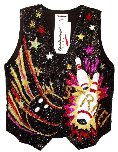 Image 0 of Sequin Vest Strike Bowling