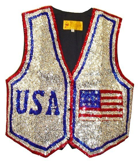 Image 0 of Sequin Vest USA # 3