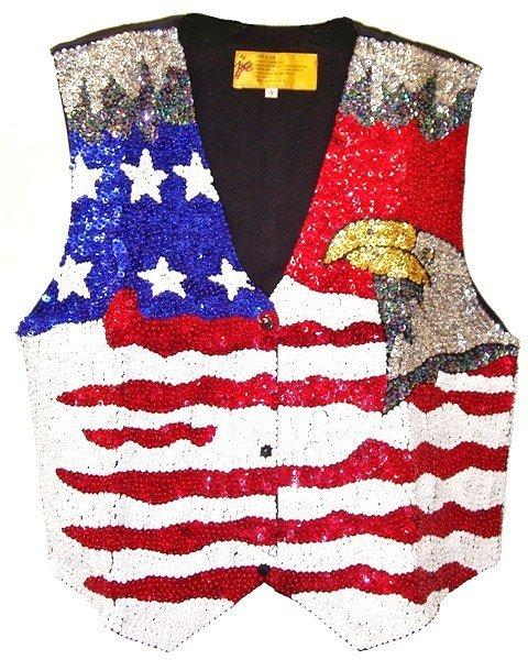 Image 0 of Sequin Vest USA w/Eagle