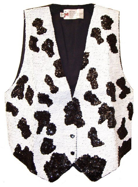 Image 0 of Sequin Vest Cow/Dalmatian