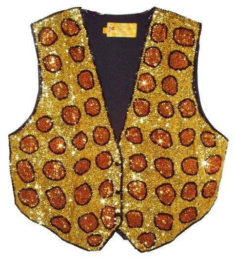 Image 0 of Sequin Vest Leopard/Cheetah