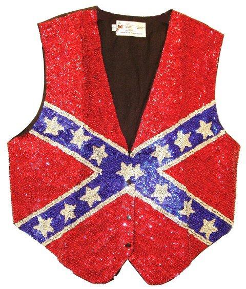 Image 0 of Sequin Vest Confederate Silver