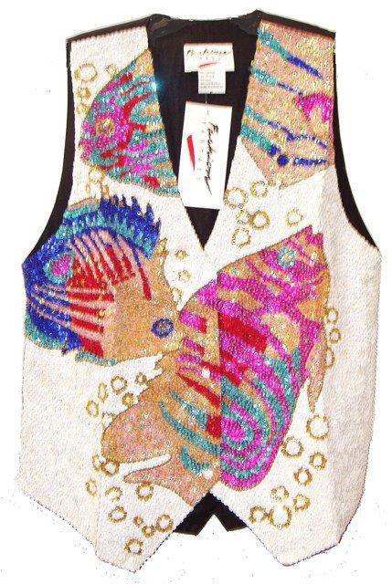 Image 0 of Sequin Vest Fish