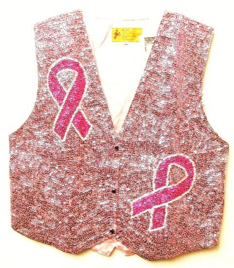 Image 0 of Sequin Vest Pink w/Pink Ribbon
