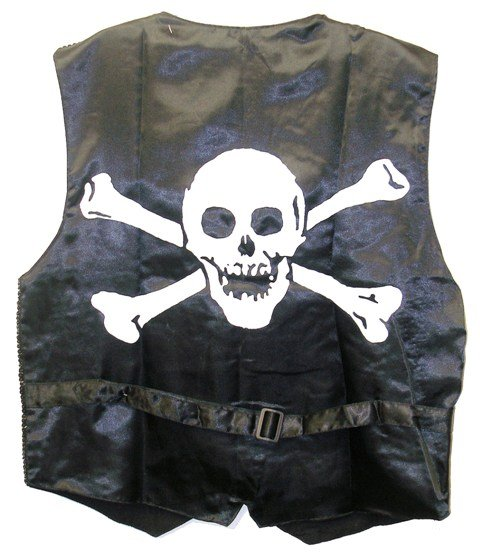 Image 1 of Sequin Vest Black & White Pirate
