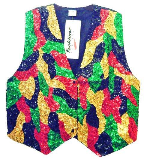 Image 0 of Sequin Vest Rasta