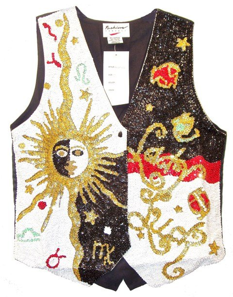 Image 0 of Sequin Vest Lady Luck