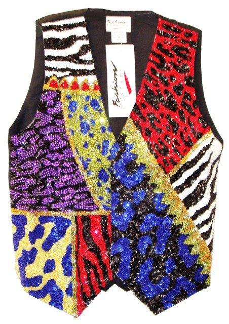 Image 0 of Sequin Vest Psychedelic Skins