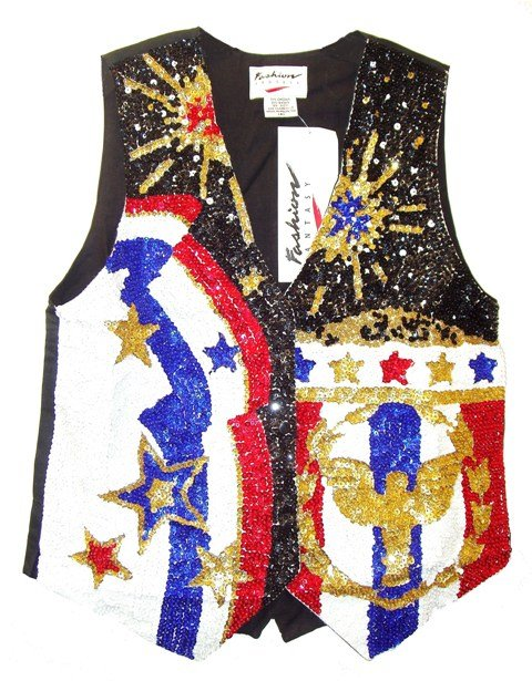 Image 0 of Sequin Vest Yankee Doodle Dandy