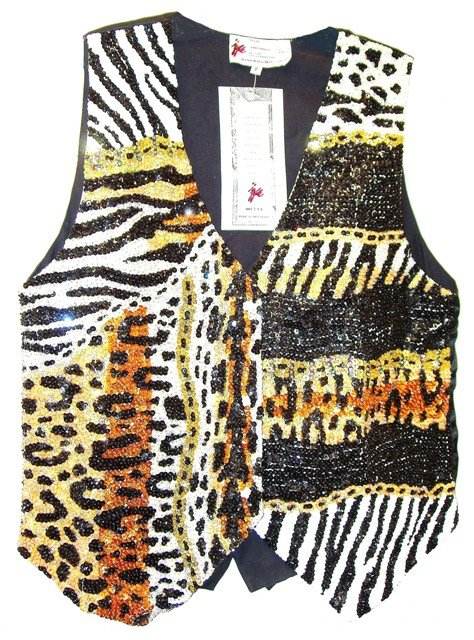 Image 0 of Sequin Vest Naturally Wild