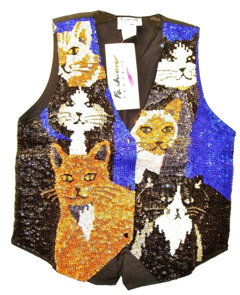 Image 0 of Sequin Vest Fancy Felines
