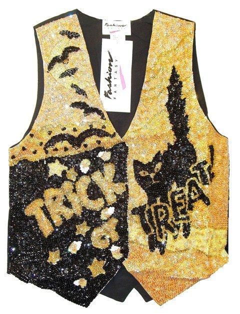 Image 0 of Sequin Vest Halloween Trick or Treat
