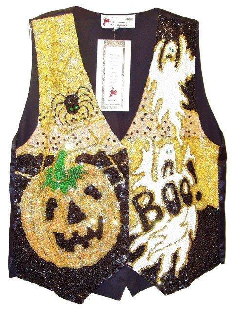 Image 0 of Sequin Vest Halloween Boo!