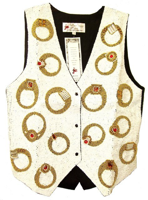 Image 0 of Sequin Vest Rings White
