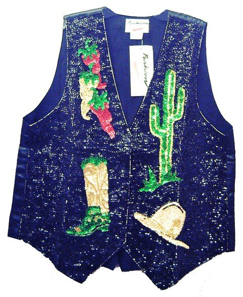 Image 0 of Sequin Vest Chile w/Cowboy