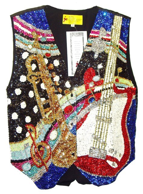 Image 0 of Sequin Vest Rock 'N Roll