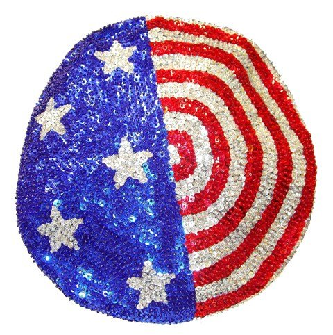 Image 0 of Sequin Beret Style Cap USA Flag Stars Stripes American pride 4th July
