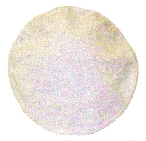 Image 0 of Sequin Beret Opal White