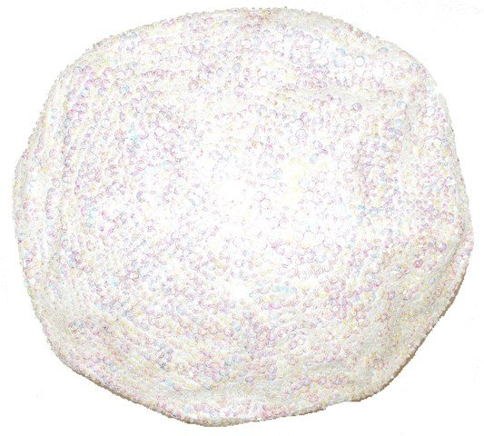 Image 0 of Sequin Beret Pearl White