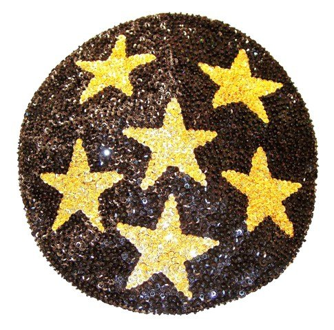 Thumbnail of Sequin Beret Black w/Gold Stars