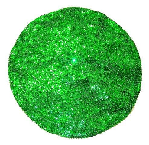 Image 0 of Sequin Beret Emerald Green