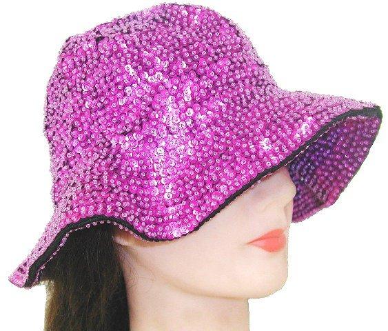 Image 0 of Sequin Flipper Hat Hot Pink/Fushia
