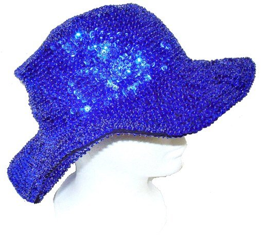 Image 0 of Sequin Flipper Hat Royal Blue