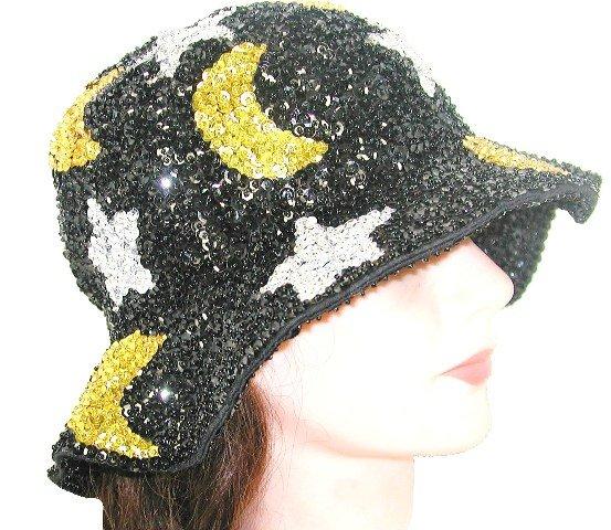 Image 0 of Sequin Flipper Hat Celestial Black