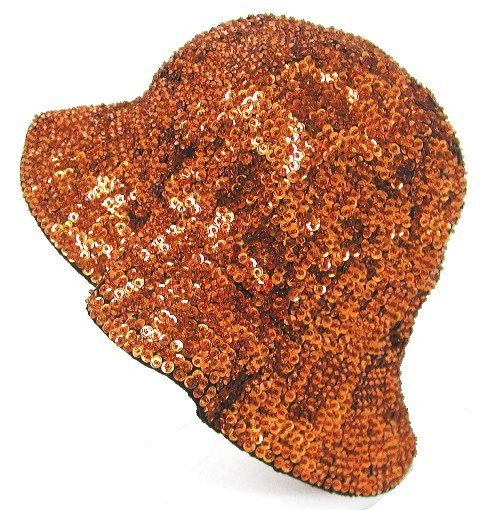 Image 0 of Sequin Flipper Hat Brown