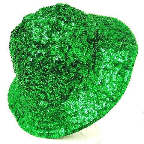 Image 0 of Sequin Flipper Hat Emerald Green