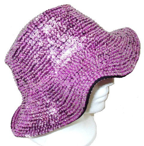 Image 0 of Sequin Flipper Hat Lite Pink