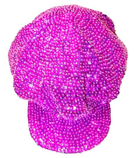 Image 0 of Sequin Brando Cap Hot Pink/Fushia (HAT03)