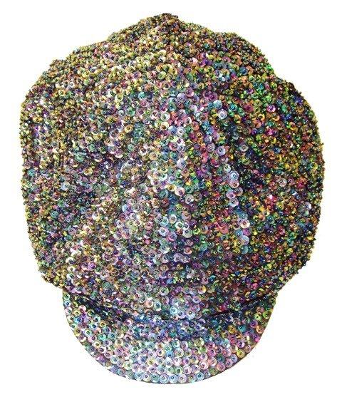 Image 0 of Sequin Brando Cap Peacock (HAT03)