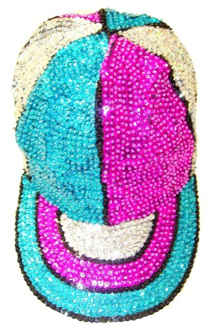 Image 0 of Sequin Baseball Cap Color Panels