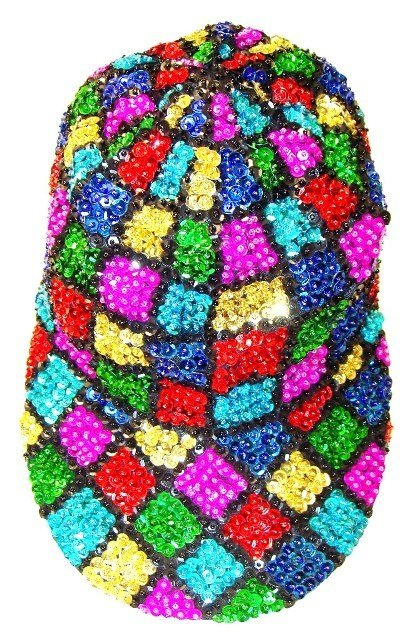 Image 0 of Sequin Baseball Cap Mosaic Square