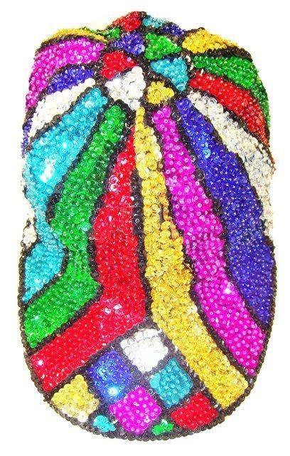Image 0 of Sequin Baseball Cap Mosaic Rainbow