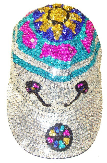Image 0 of Sequin Baseball Cap Beach (30pcs Box)