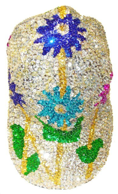 Image 0 of Sequin Baseball Cap Daisy # 1