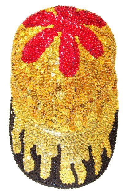 Image 0 of Sequin Baseball Cap Flames