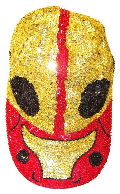 Image 0 of Sequin Baseball Cap Gold Bug