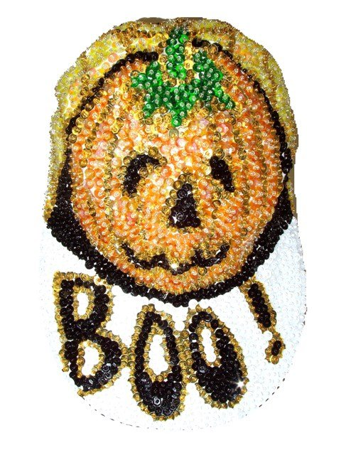 Image 0 of Sequin Baseball Cap Boo!