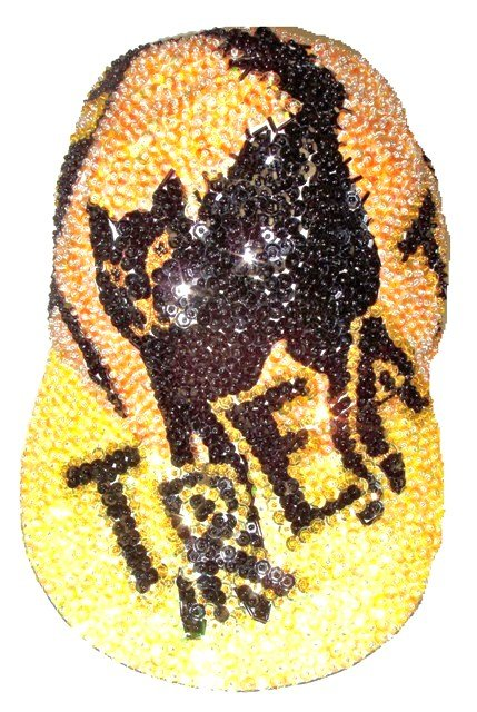 Image 0 of Sequin Baseball Cap Trick or Treat!