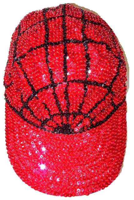 Image 0 of Sequin Baseball Cap Red Spider/Triangle (130pcs Box)